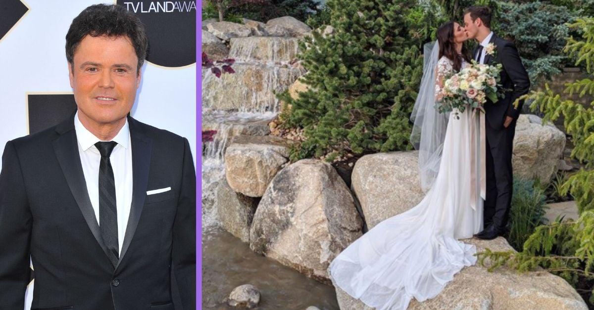 Donny Osmond's Son Josh Gets Married In Backyard Wedding