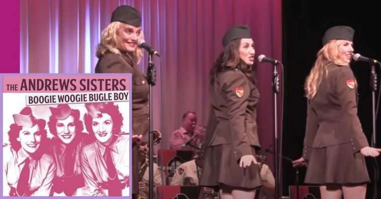 Girl Group Performs Andrew Sisters Hit _Boogie Woogie Bugle Boy_ Like It's The 1940s Again