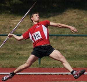 If things went differently, Landon might have been a famous javelin thrower