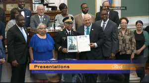 In 2018, John Edward James Jr. is honored for his services during World War II