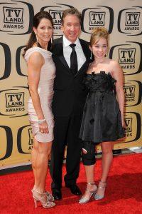 Jane Hajduk, Tim Allen, and daughter Katherine Allen