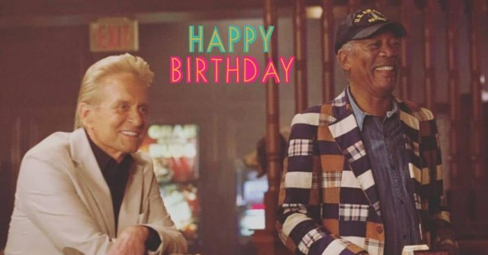 Michael Douglas wishes former co star Morgan Freeman a happy birthday