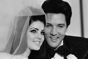 This picture captures the day, on May 1, 1967, Priscilla and Elvis Presley tied the knot