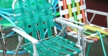 Vintage lawn chairs are popular again due to social distancing