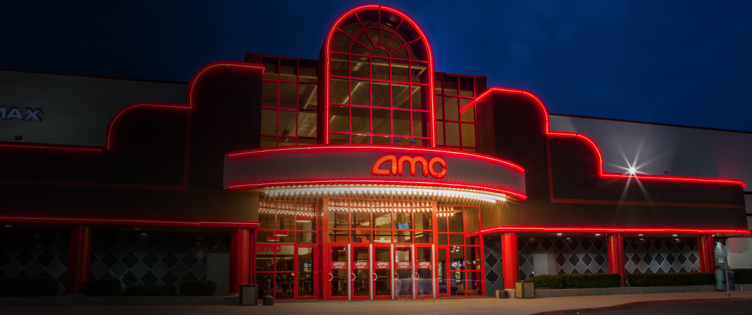 amc movie theater at night