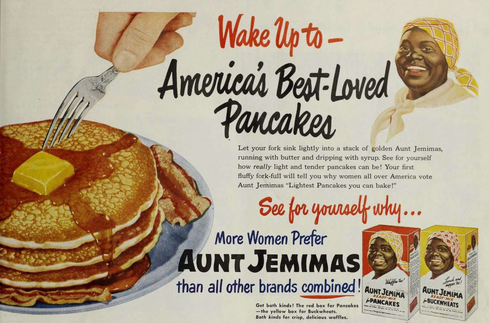 old aunt jemima pancakes ad