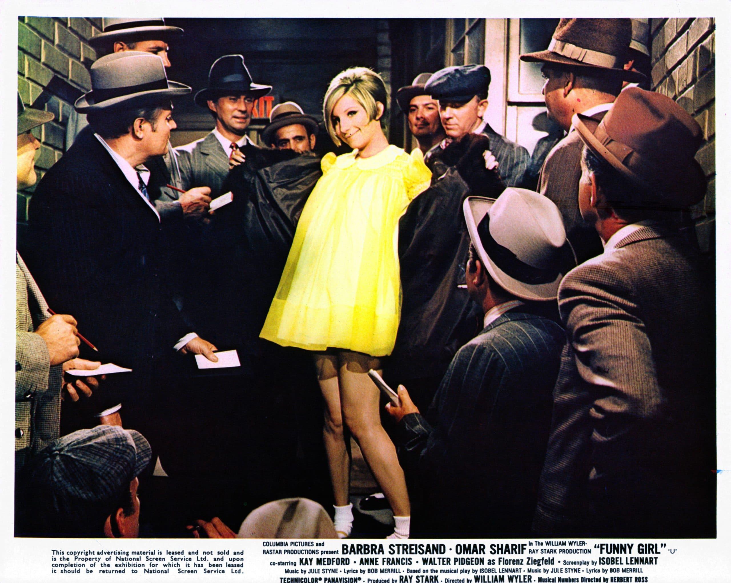 barbra streisand funny girl yellow dress