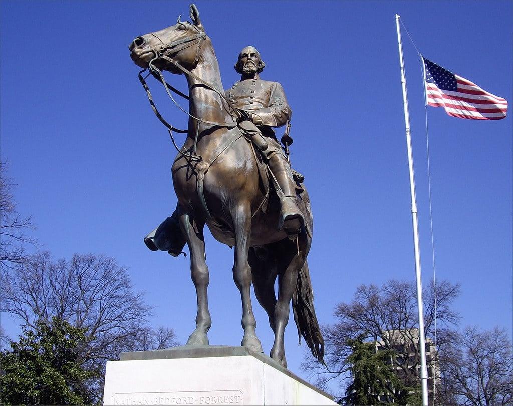 Nathan Bedford Forrest former KKK leader statue