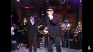 Akroyd and Belushi got their start as a band with wacky scenarios
