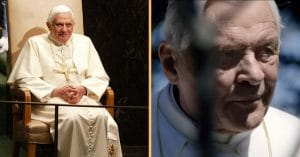 Anthony Hopkins' resemblance to the former Pope is uncanny