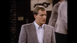 As Woody Boyd, Woody Harrelson played a friend of Coach