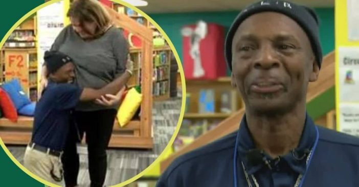 Janitor Who Walks Miles To Work Breaks Down In Tears When Coworkers Do This For Him