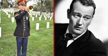 John Wayne offers his vocal expertise to narrate the history of Taps