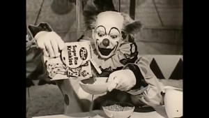 Krinkles the Clown became the mascot for Sugar Krinkles