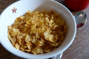 Sugar Frosted Flakes embody the trends among cereals in the '50s succinctly