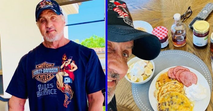 Sylvester Stallone celebrated his birthday with a breakfast made by his daughters