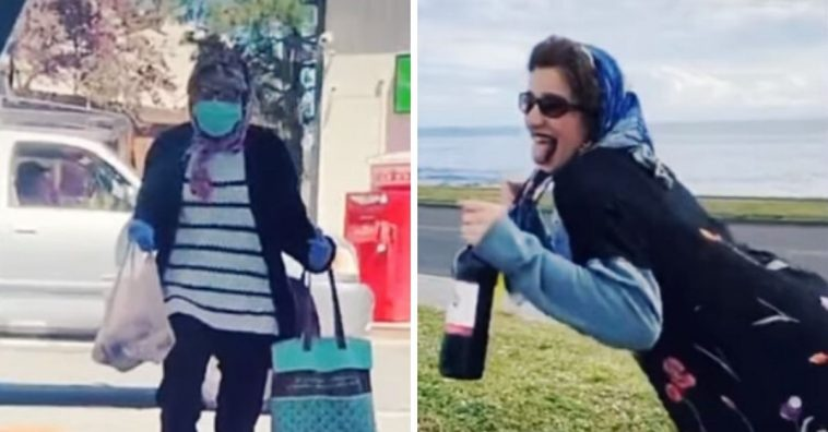 Teens dress up as grandmas with masks to buy alcohol