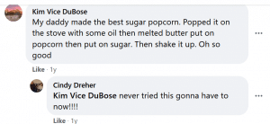 The question brought back memories of bonding and tasting recipes from stovetop popcorn
