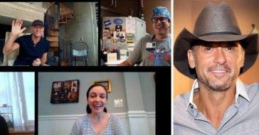 Tim McGraw surprises a group of nurses via video chat