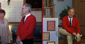 Tom Hanks might resemble Mr. Rogers so well because they're related