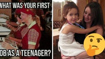 What was your first job as a teenager