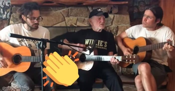 Willie Nelson performed on Jimmy Kimmel Live with his sons