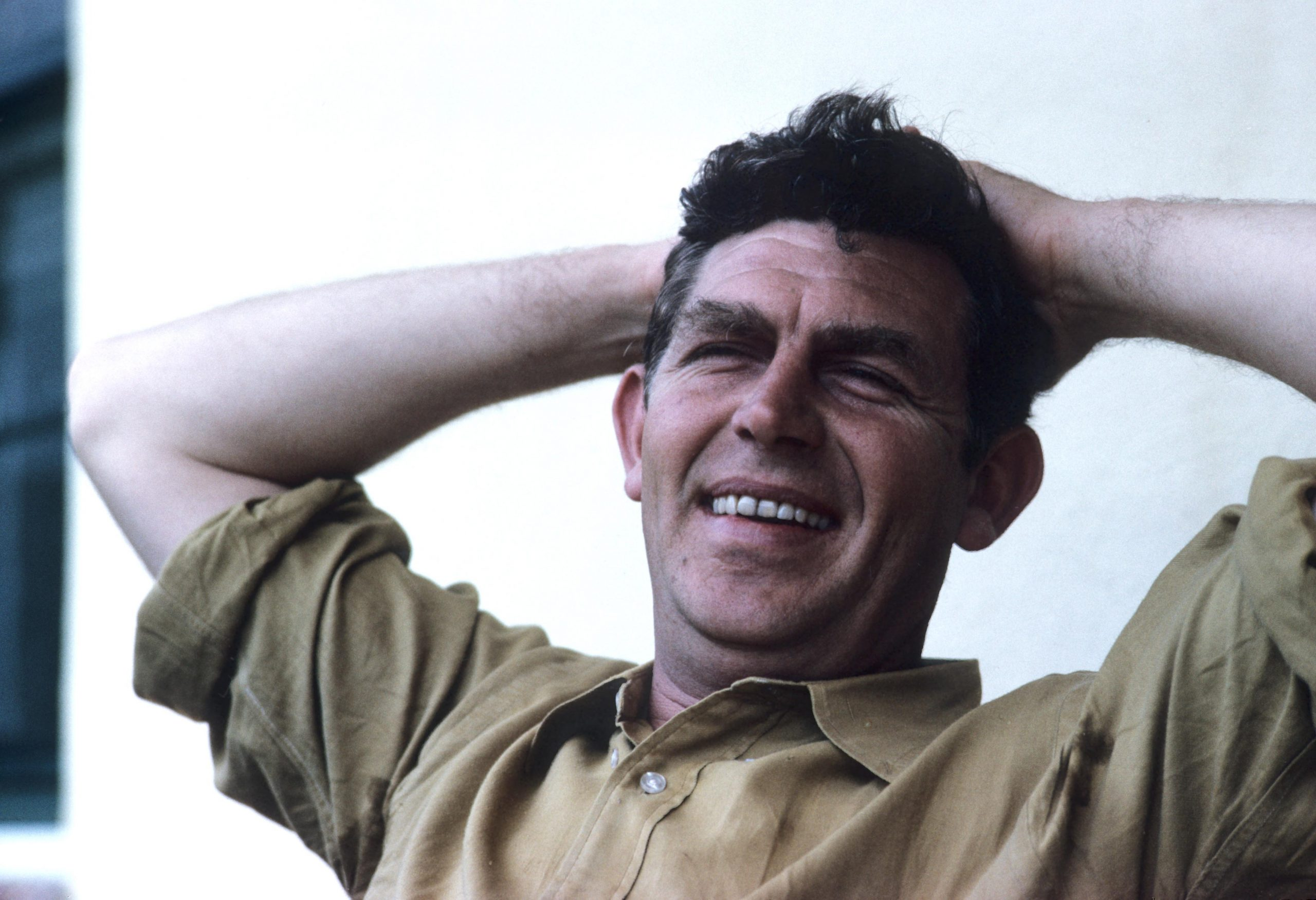 young andy griffith looking relaxed