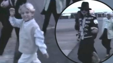 benjamin keough greets paparazzi with michael jackson