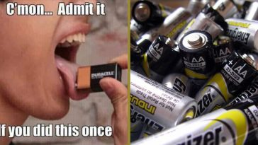 did you ever lick a battery
