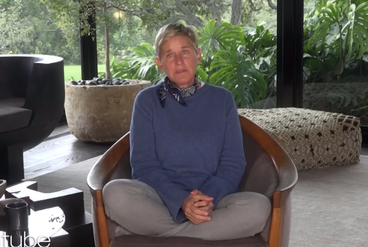 ellen crying on a virtual episode of her show