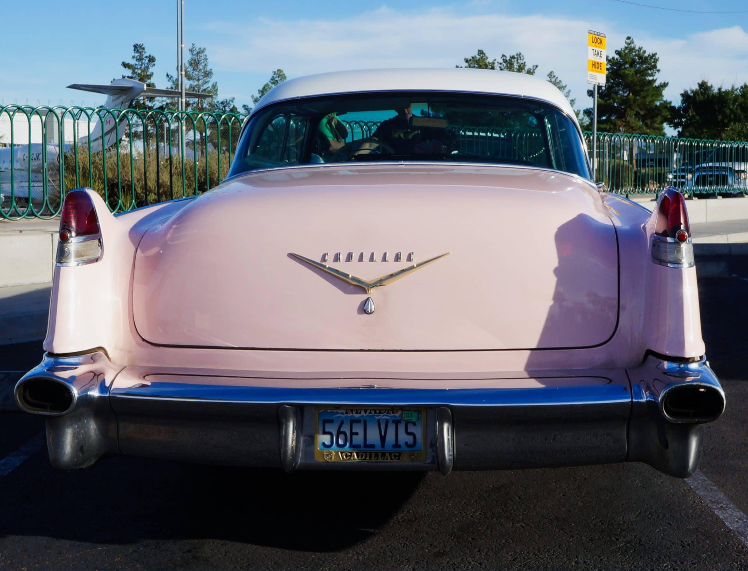 elvis presley license plate pink cadillac