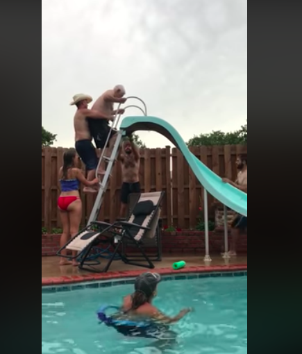 WATCH: 94-Year-Old Great-Grandpa Has The Time Of His Life On Waterslide