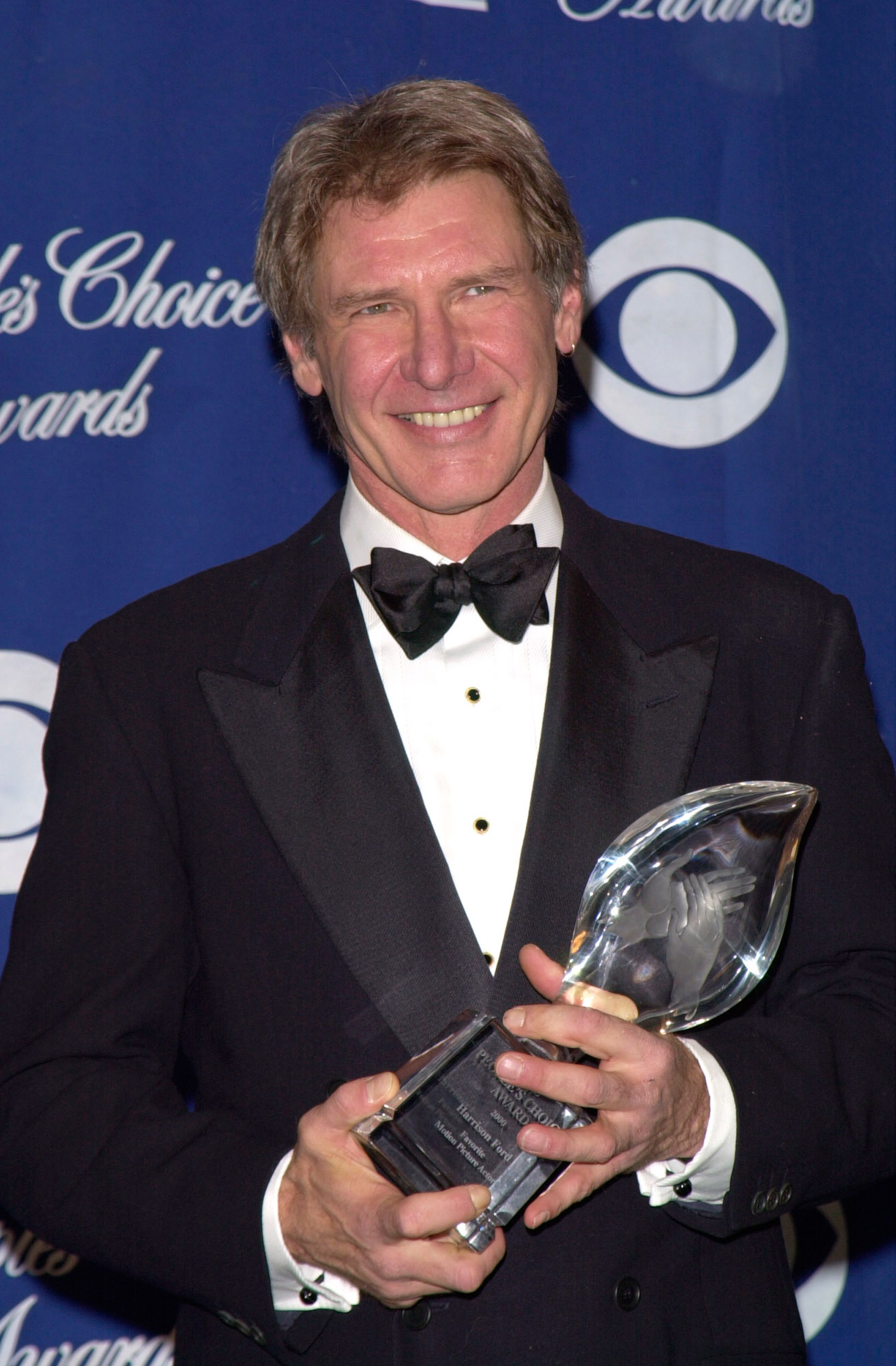 harrison ford with an award