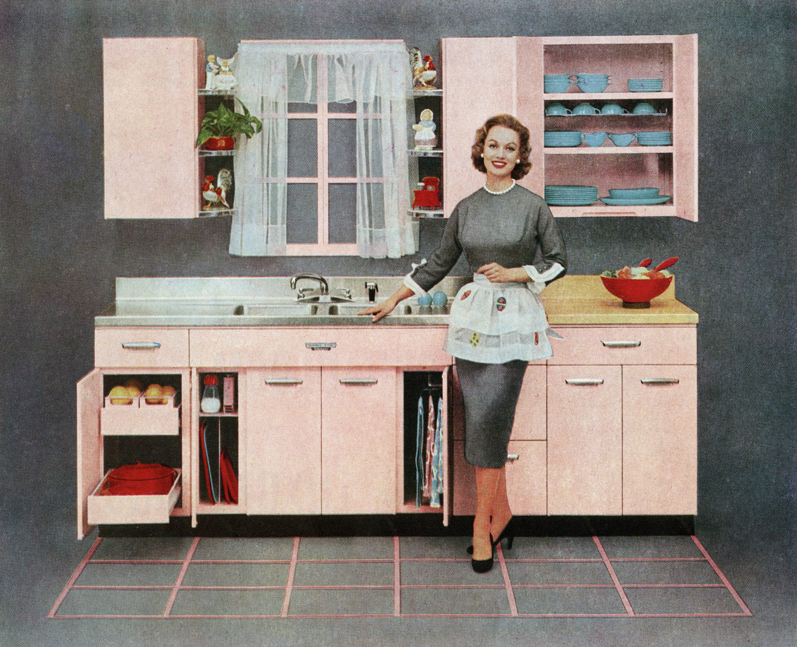 housewife standing in the kitchen