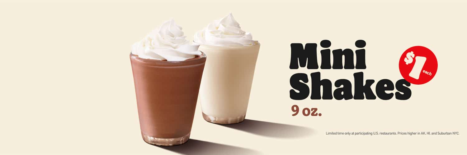 burger king mini milkshakes