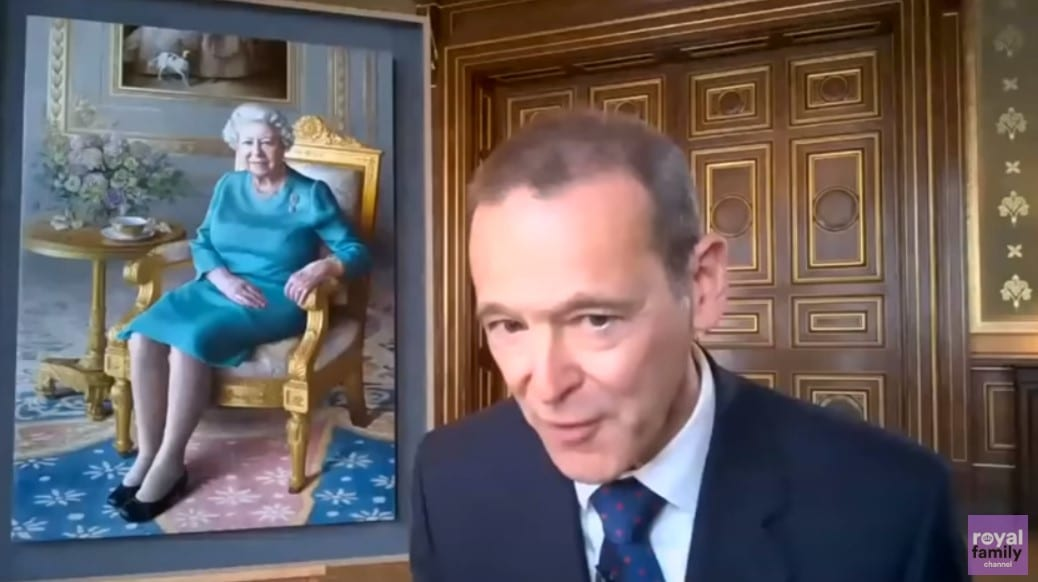 portrait unveiling of the queen