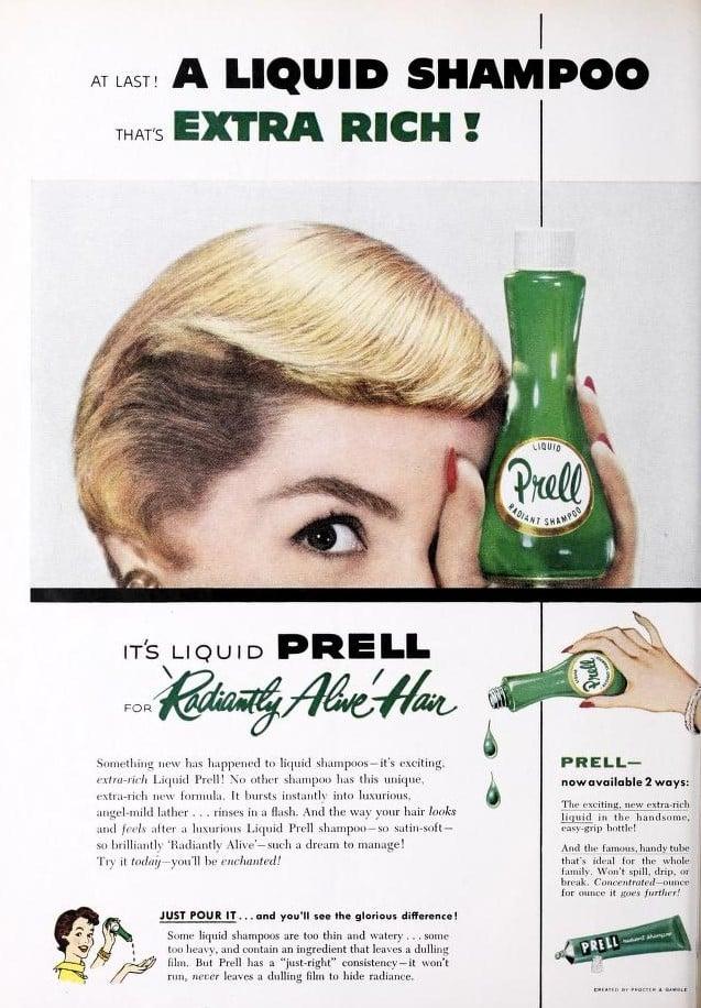 vintage prell ad