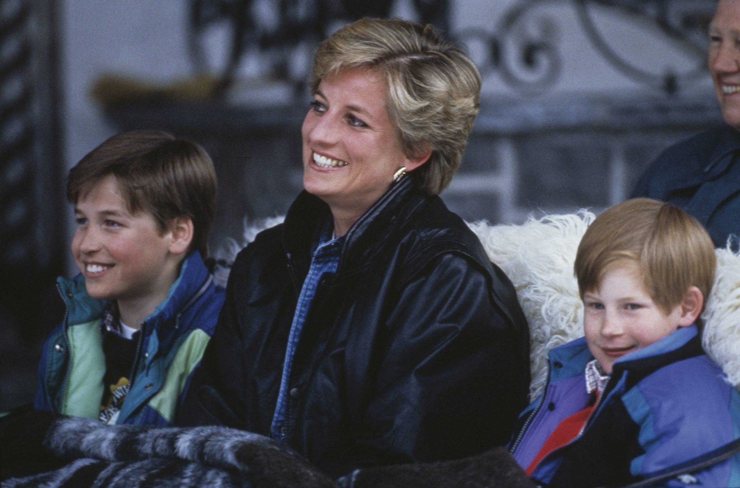 princess diana and sons prince william prince harry