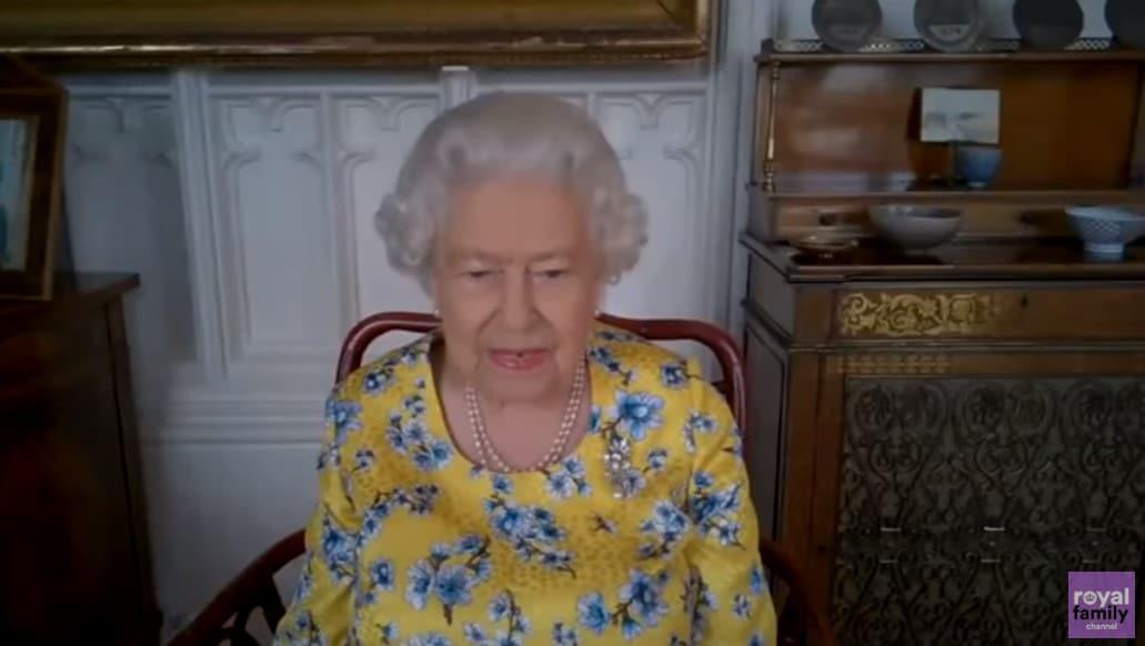 queen elizabeth attends virtual portrait unveiling