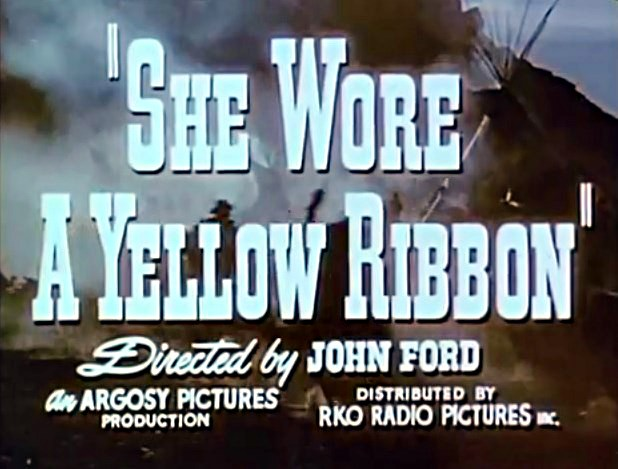 she wore a yellow ribbon john ford movie