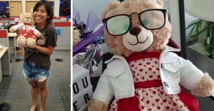 stolen teddy bear returned back to owner
