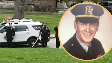 terminally ill sergeant gets emotional salute from police officers