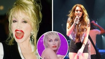 Check out Dolly Partons face on Miley Cyrus body