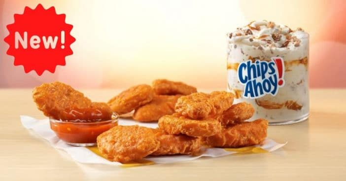 McDonalds is releasing new Spicy McNuggets hot sauce and Chips Ahoy McFlurry
