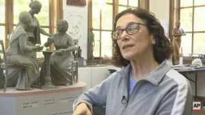 Sculptor Meredith Bergmann made the first statue in Central Park depicting real-life women