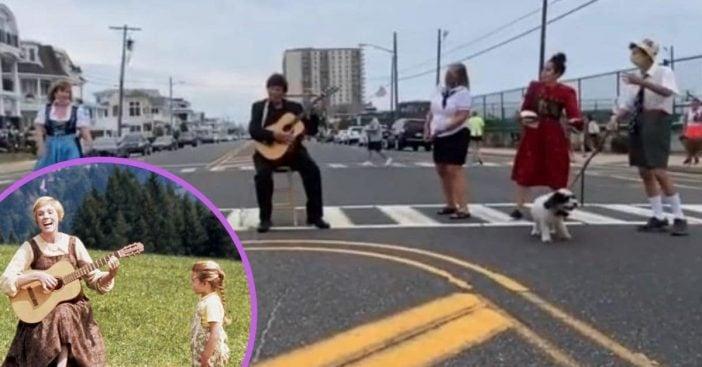 Small town creates Sound of Music crosswalk musical