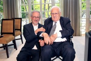 Steven Spielberg and his organization honored Arnold for giving Holocaust survivors a platform