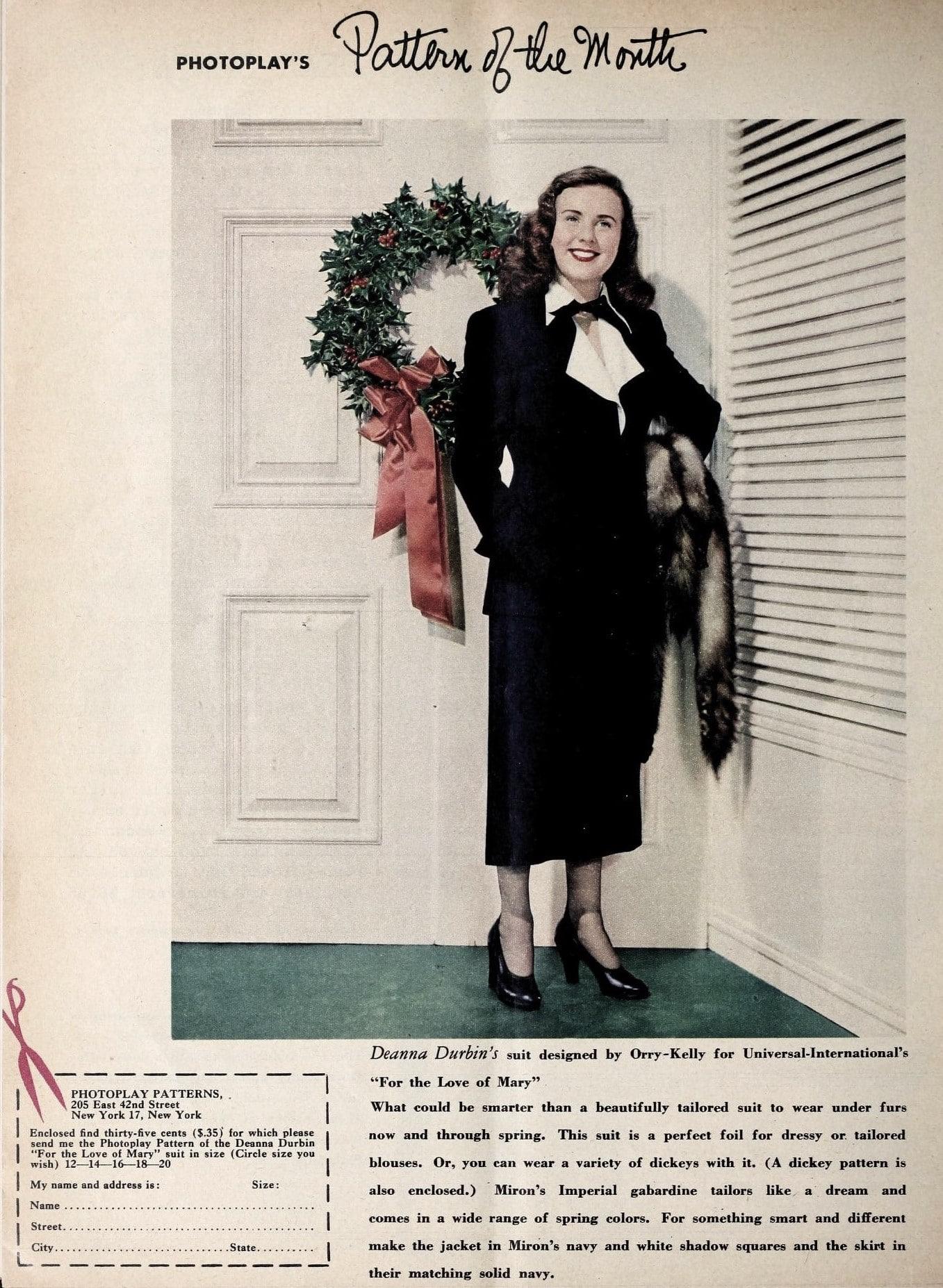 deanna durbin suit wreath