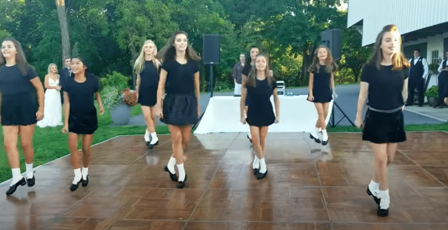 Irish Dance Team Joins Bride At Wedding Reception For Incredible Performance