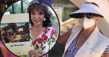 joan collins got into clash with police over face mask